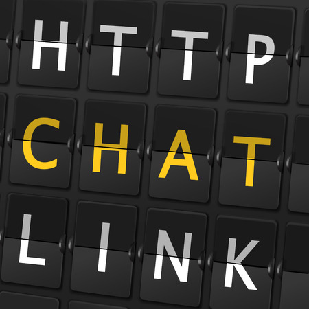 http: http chat link words on airport board background