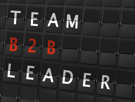 b2b: palabras B2B l�der del equipo en el fondo tablero aeropuerto