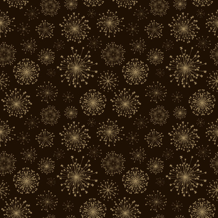 seamless radial flower pattern over brown background