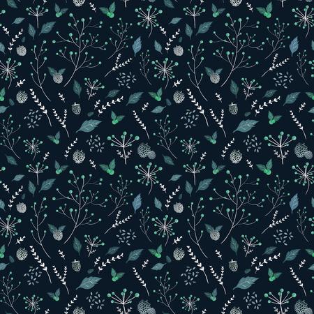 파란색 배경 위에을 요소와 원활한 패턴