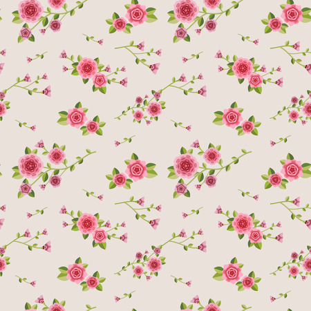 graceful: graceful seamless floral pattern over pink background