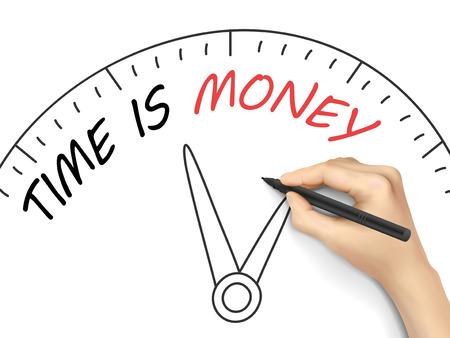 activism: El tiempo es dinero escrito a mano sobre fondo blanco