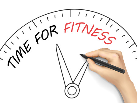 fitness goal: time for fitness written by hand on white background
