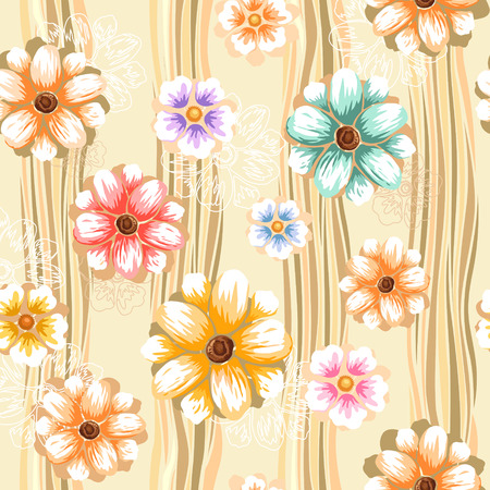 elegance: abstract elegance seamless pattern over brown background Illustration