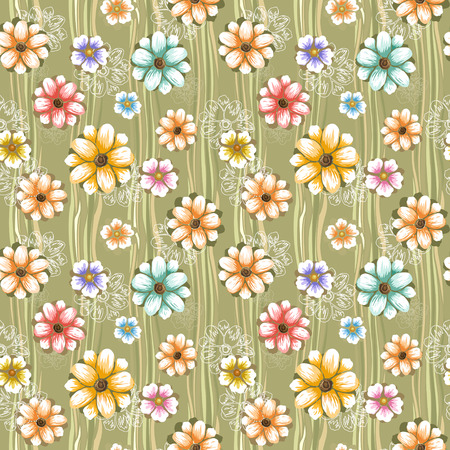 elegance: abstract elegance seamless pattern over green background