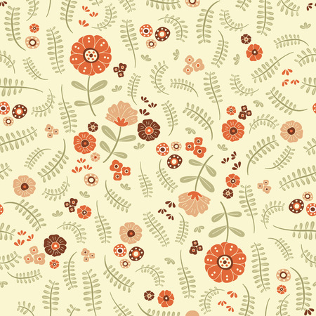 soulful: lovely orange flowers and ferns over warm background