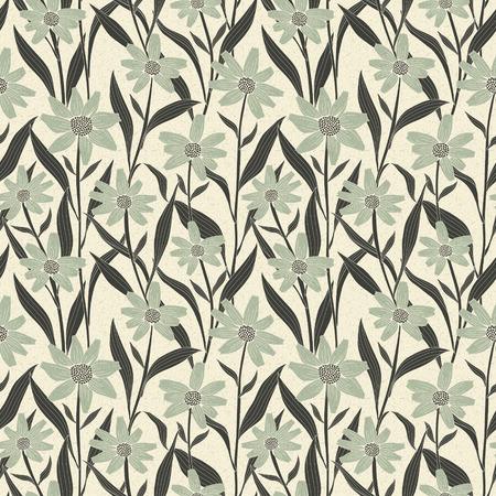 graceful: graceful vintage seamless floral pattern over beige background