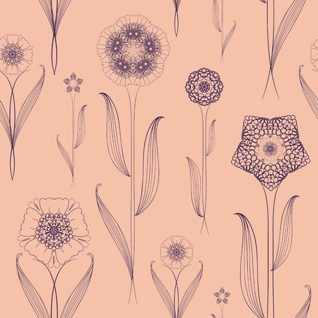 delicate: delicate seamless floral pattern background over pink