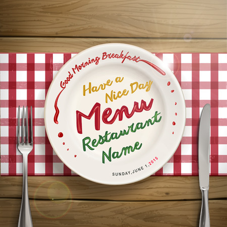 carte: creative restaurant menu design with tableware elements