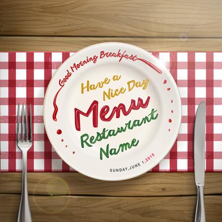 creative restaurant menu design with tableware elements