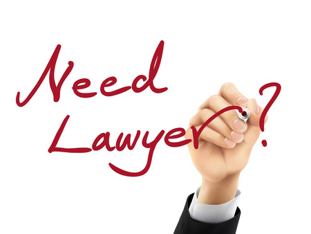 court process: need lawyer words written by hand on a transparent board
