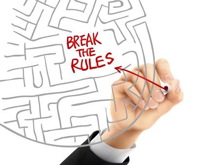 short break: break the rules written by hand on a transparent board