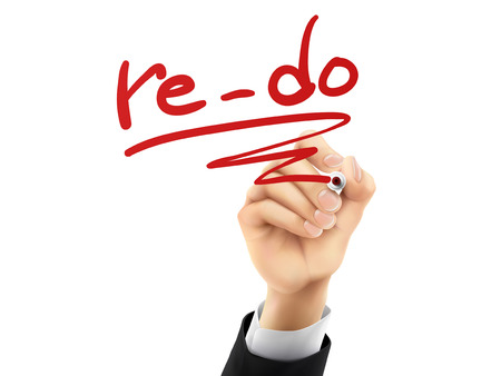 reforming: re-do word written by hand on a transparent board