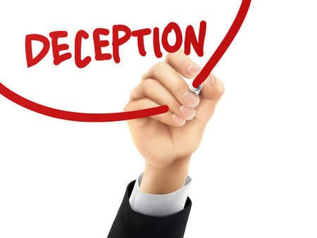 disinformation: deception word written by hand on a transparent board