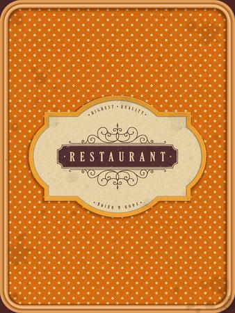 carte: lovely restaurant menu design in orange tone Illustration