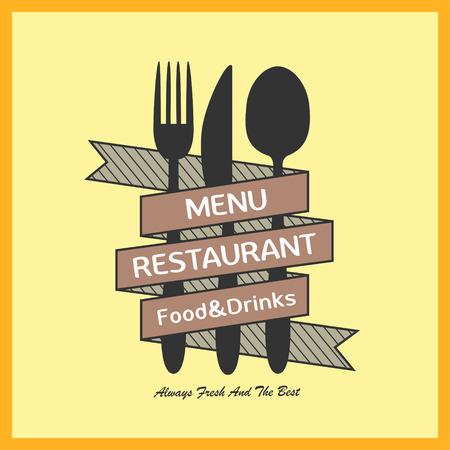 carte: modern simplicity restaurant menu design in yellow