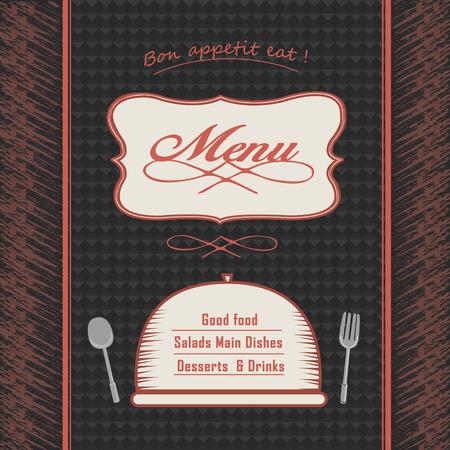 modern restaurant menu design with tableware elements