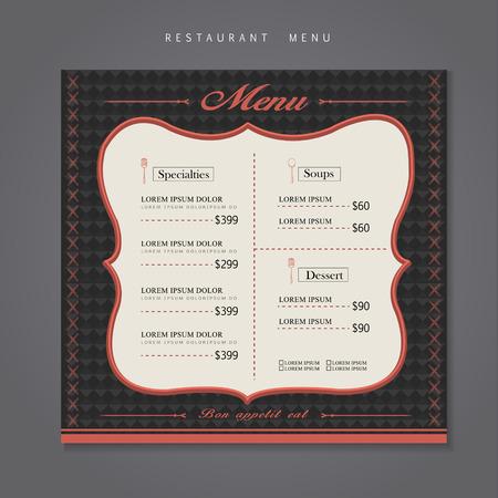 modern restaurant: modern restaurant menu design with geometric background
