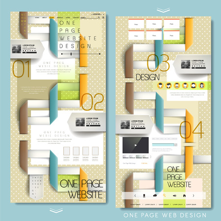 folded paper: creative folded paper concept one page website design