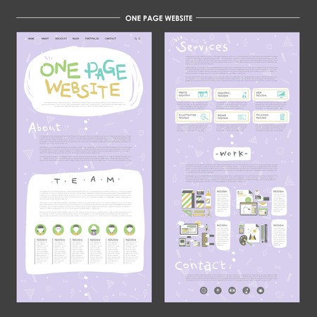 lovable: lovable one page website design template in soft purple