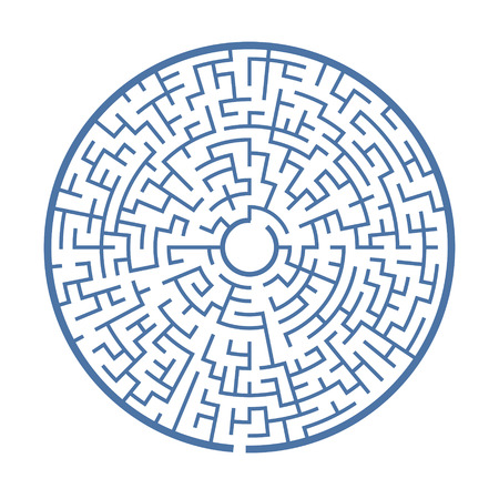 teaser: blue circular maze isolated on white background