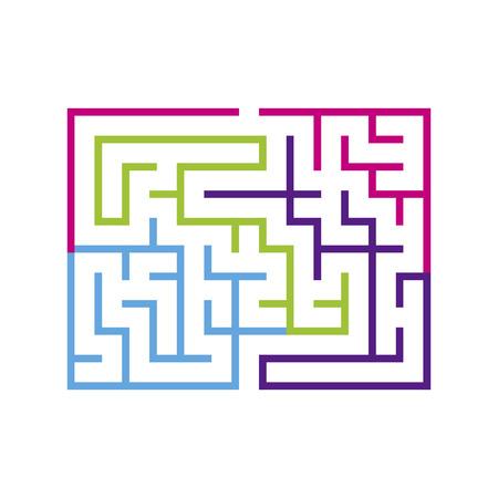 laberinto: laberinto colorido moderno aislado en el fondo blanco