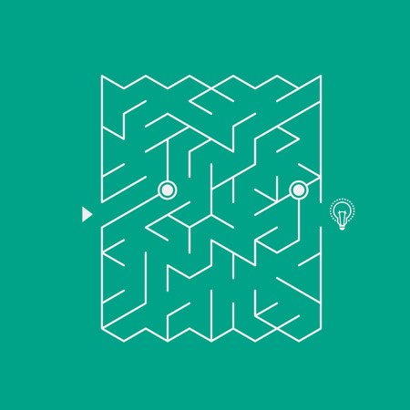 modern attractive maze isolated bright background Vector