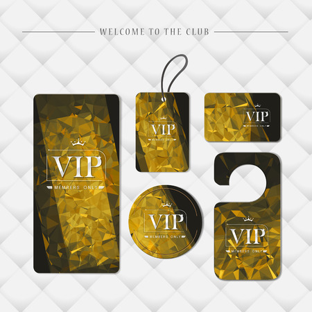 VIP members only premium platinum elegant cards template set
