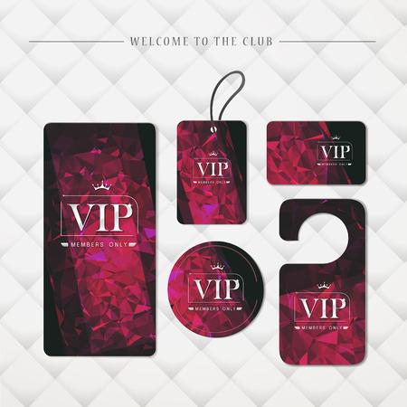 members only: VIP members only premium platinum elegant cards template set