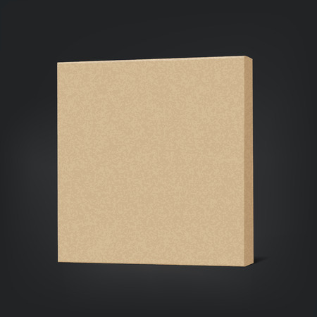 shipped: closed cardboard box isolated on black background
