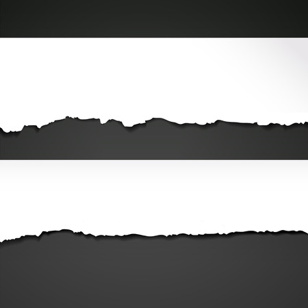 papier vierge: ripped mod�le de papier isol� sur fond noir