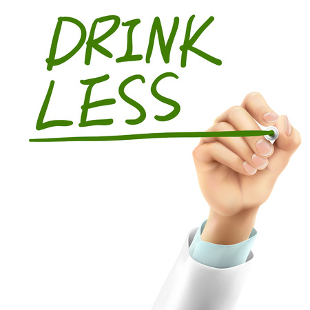 less: doctor writing drink less words in the air