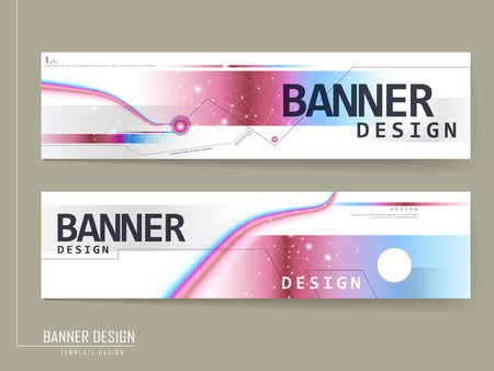 fashionable banner design with geometric glitter elements