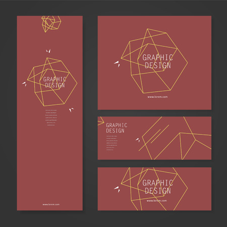 the simplicity: simplicity banner template design with elegant polygon element over red background Illustration