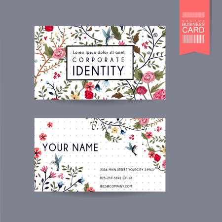 llamando: tarjeta de diseño elegante con un precioso estampado de flores sobre fondo blanco con manchas de color púrpura