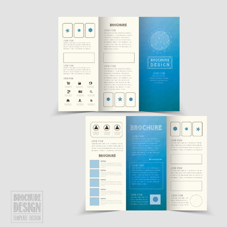 Graceful TriFold Brochure Template Design In Elegant Golden