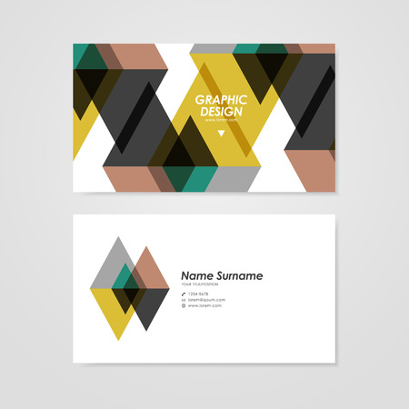 user name: modern business card template design with translucent triangle element
