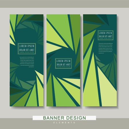 очаровательный: очаровательный дизайн шаблона баннер с треугольника фона в зеленых