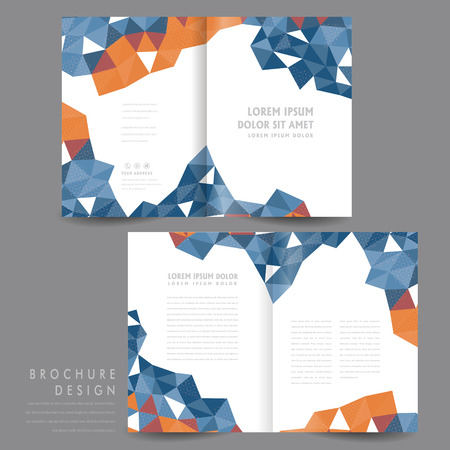 Simplicity Halffold Brochure Design With Orange Calligraphy - Half fold brochure template free