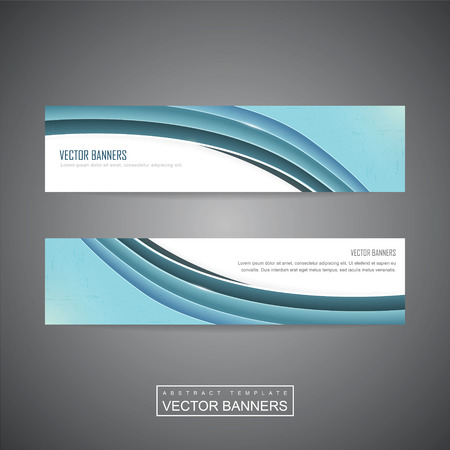 header image: elegant banner template design with blue streamline wave