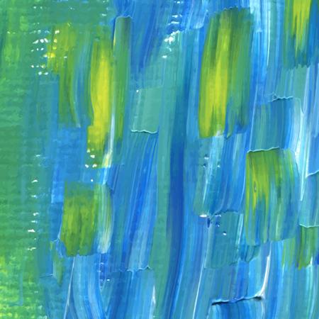 Moderne Acryl gemalten Hintergrund in blau und gelb Standard-Bild - 38011045