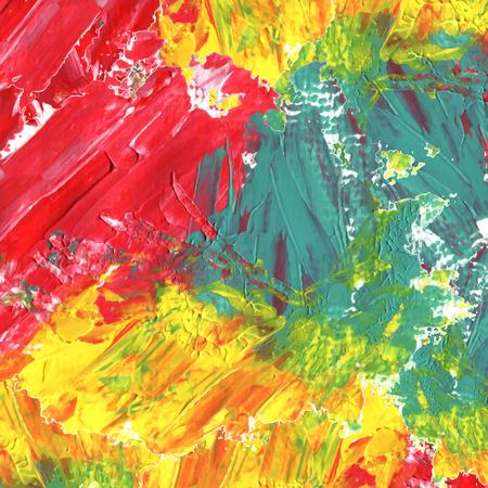 Zusammenfassung bunten Acryl Hintergrund gemalt in rot, grün und gelb Standard-Bild - 38011047