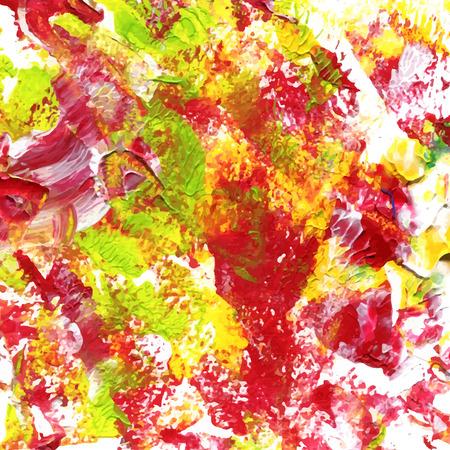 jaune rouge: abstraite acrylique fond peint en rouge, jaune et vert Illustration