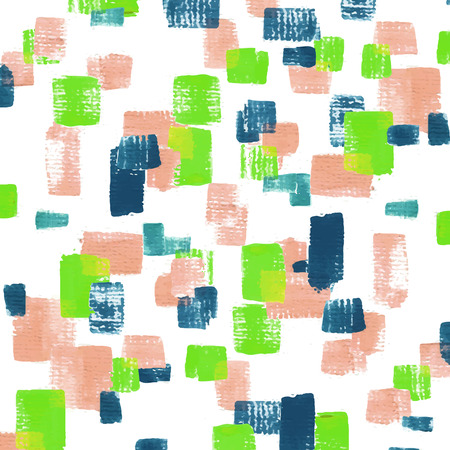 pink and green: attractive mosaic shape acrylic painted background in pink, green and blue Illustration