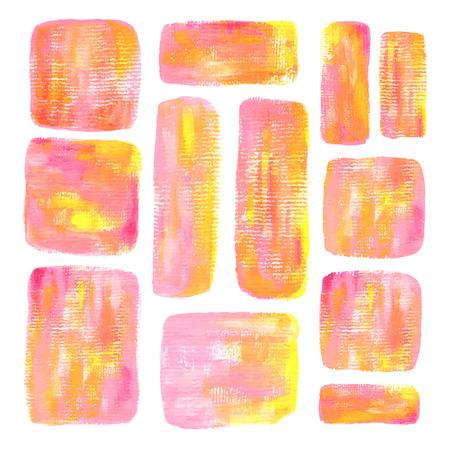 Schönen Platz Acryl gemalten Hintergrund in rosa und gelb Standard-Bild - 38011440