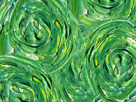 thick: oil painted background in green and yellow Illustration