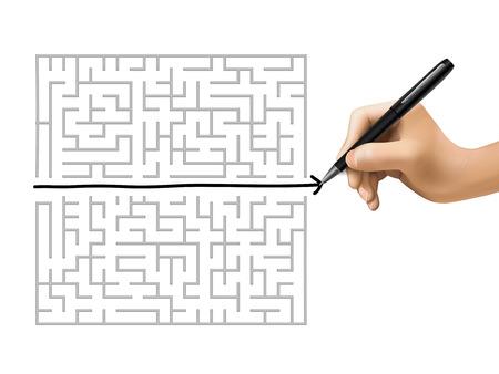 short break: break the rules drawn by hand on a white board