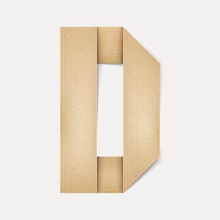 papier a lettre: 3d �l�gante lettre de papier pli� D isol� sur fond beige