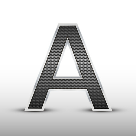 speaker grille: 3d speaker grille letter A isolated on grey background Illustration