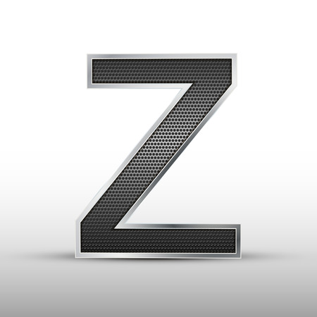 grill pattern: 3d speaker grille letter Z isolated on grey background Illustration